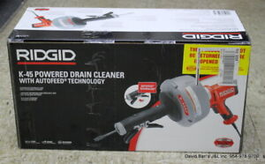 Ridgid 35473 K 45af Autofeed Drain Cleaning Machine With C 1 5 16 In Inner Core