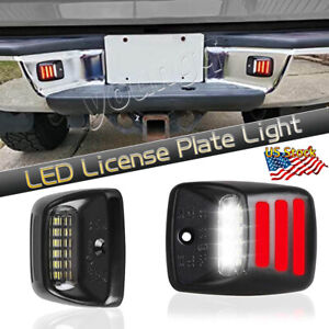For Toyota Tacoma Tundra Red Neon Tube Rear Bumper Tag Led License Plate Light