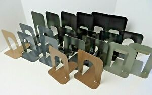 Vintage Metal Bookends Library School Industrial Mixed Lot Of 20 4466