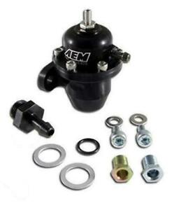 Aem Honda Acura 25 300bk Black High Volume Adjustable Fuel Pressure Regulator