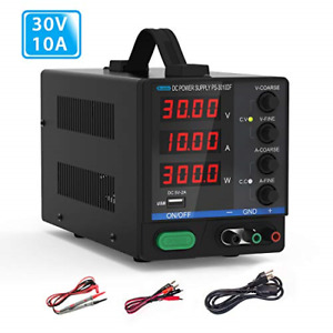 Dc Bench Power Supply 30v 10a Dr meter Variable 4 digital Led Display Power And