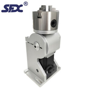 Sfx 100mm Three jaw Rotary Axis Optional Parts For Fiber Laser Marking Machine