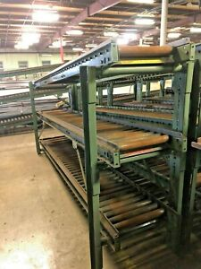 used Hytrol 120 l X 16 w Gravity Conveyor Roller 1 Lot Of 2 Rollers W Stand