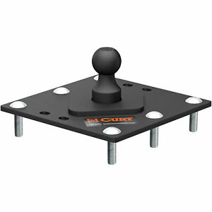 Curt 61100 30000 Pounds Gtw 12 X 12 In Over Bed Gooseneck Fixed Ball Flat Plate