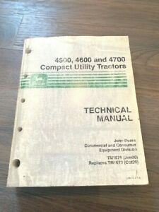 2000 John Deere 4500 4600 4700 Compact Utility Tractors Technical Manual Tm1679