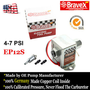 Hot New 12v Electric Fuel Pump 4 7 Psi Low Pressure Inline Gas Diesel Ep12s Usa