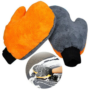 Car Wash Gloves Car Cleaning Supplies Absorbent Brush Detailing Tool Towel Dt