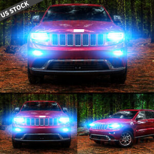 For Jeep Grand Cherokee 2014 2017 6x 8000k H11 9005 Led Headlight Fog Bulbs