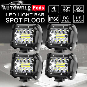 4x Spreader Led Marine Navigation Deck mask Lights Cube Pods Light Boat 12v 24v