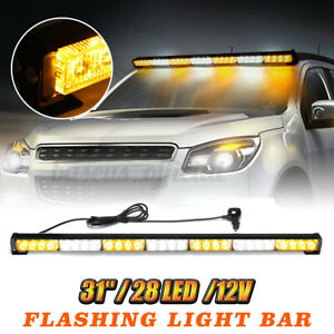 31 28 Led Emergency Warning Strobe Light Bar Traffic Advisor Flash Lamp