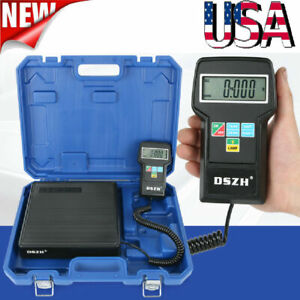 Digital Refrigerant Electronic Charging Scale 220 Lbs For Hvac W Blue Case Usa