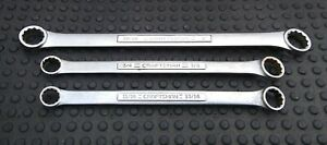 Craftsman 3 Piece Box End Wrench Set 11 16 To 1