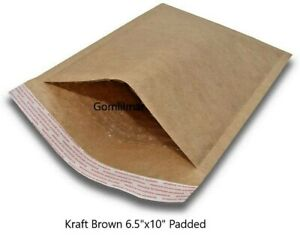 0 6 5x 10 Brown Kraft Bubble Envelopes Mailers Bags Padded Shipping