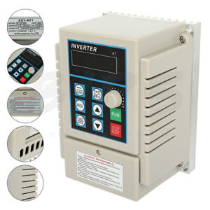 1hp 220v 0 75kw Variable Frequency Drive Vfd Single To 3 Phase Speed Control