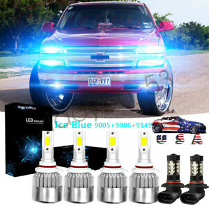 For Chevy Silverado 1500 2500 3500 2003 2006 Led Headlights Fog Light Bulb 8000k