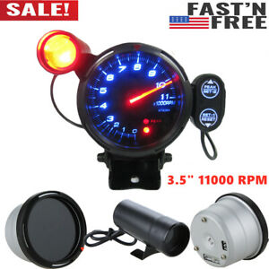 3 5 Inch Car Blue Led Tachometer Gauge Meter With Shift Light 11000rpm Usa Y8m6