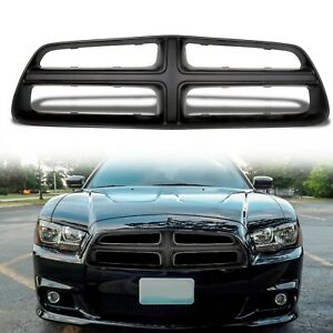 New Flat Black Front Grille Shell For 2011 2014 Dodge Charger