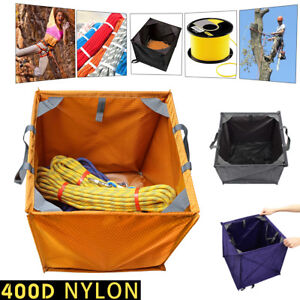 400d Nylon Folding Throw Line Cube Storage Bag Arborist Lineman Collapsibble