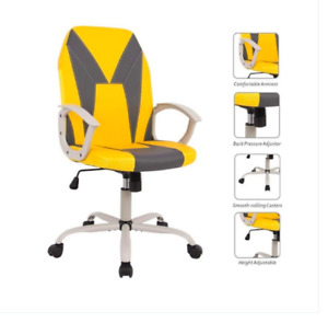 Office Computer Desk Chair Executive Ergonomic Armrests Gaming Chair Yellow