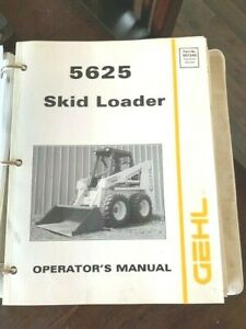 1995 Gehl 5625 Skid Loader Service Bundle sn 8868 Operators Shop Parts