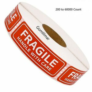 Fragile Sticker 1 x3 Strong Adhesive Fragile Handle With Care Stickers Usa