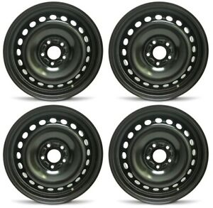 New Set Of 4 16 X 6 5 Replacement Steel Wheel Rim For 2012 2014 Ford Focus