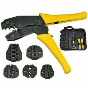 4 In 1 Terminal Cable Crimper Pliers Insulated Crimp Tool Kit Ratchet Connectors