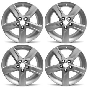 New Set Of 4 17 X 7 Silver Replacement Wheel Rim 2012 2013 2014 Toyota Camry