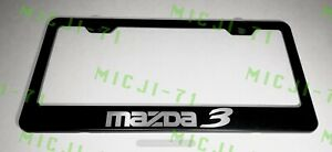 Mazda 3 Stainless Steel License Plate Frame Rust Free W Bolt Caps