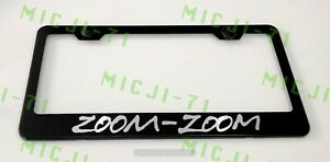 Zoom Zoom Stainless Steel License Plate Frame Rust Free W Bolt Caps