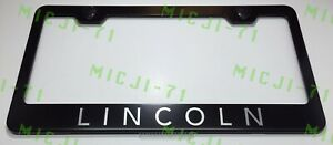 Lincoln Stainlesssteel License Plate Frame Rust Free W Bolt Caps