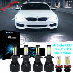For Bmw 328i 325xi 330xi 2002 2006 Combo Led Headlight Fog Light Bulbs Kit 6000k