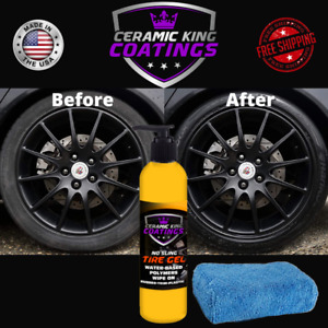 Ceramic King Tire Gel Dressing High Gloss No Sling Tire Shine Rubber Plastic