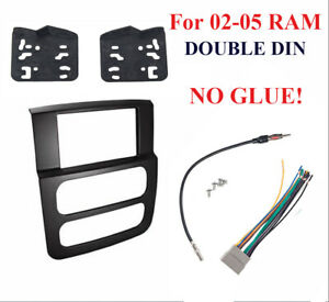 High Grade Dash Kit For Dodge Ram 02 05 Double Din Stereo Install Black Package