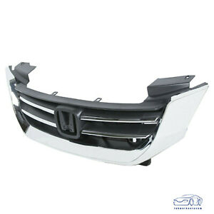 For Honda Accord 2013 2014 2015 Front Bumper Abs Chrome Grille Grill 13 15 New