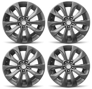 New Set Of 4 18 X 7 5 Replacement Wheel Rim 2010 2013 Hyundai Veloster Sonata