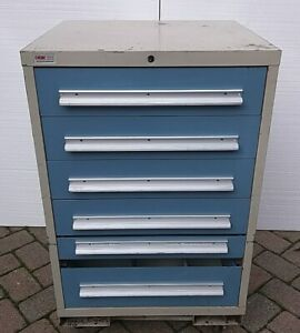 Lyon Mss Ii Commercial Heavy Duty Storage Tool Shop Equipment Cabinet 6 Drawer