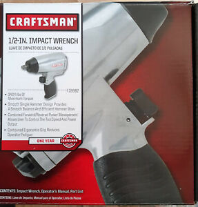 Craftsman 1 2 Inch Drive Impact Wrench Driver Pneumatic Compressed Air Gun