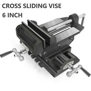 6 Bench Vise Heavy Duty Clamp Drill Press Vice Meta Milling Cross Slide Machine