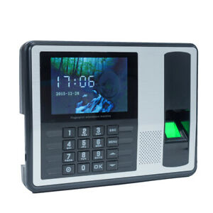 Employee Check in Reader Biometric Fingerprint Password Attendance Machine L8z9