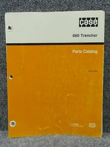 Oem Factory Case 660 Trencher Parts Catalog Manual 8 7340