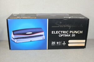 Brand New Swingline Optima 20 Electric 3 Hole Punch 20 Sheet Capacity
