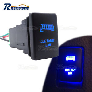 Led Light Bar Push Switch Blue W Wiring Kit For Toyota Tacoma Tundra 4runner