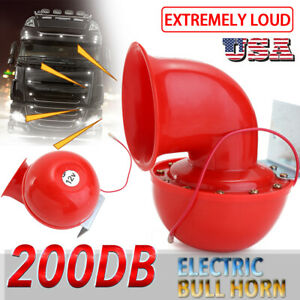 Super Loud Air System 200db 12v Train Air Horn Kit For Car Truck Boat Taxi Y9h8