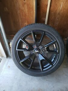 2017 Ford Mustang 19 Black Package Package 1 Wheels And Tires Set Of 4