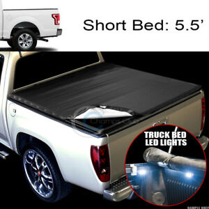 Snap on Vinyl Tonneau Cover 16x Led Lights 15 18 Ford F150 5 5 Truck Short Bed