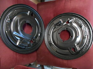 Porsche 356b Right Left Rear Drum Brake Backing Plates Cleaned Painted