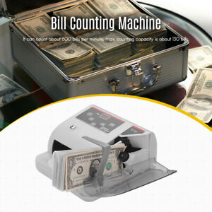 Money Counter Currency Cash Bill Counting Machine Detector Uv mg wm T2d6