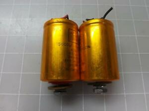Lot Of 2 Roe Din 41238 Capacitors T49439