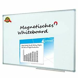 Lockways Magnetic Dry Erase Board Magnetic silver Frame 36 X 24 Inch